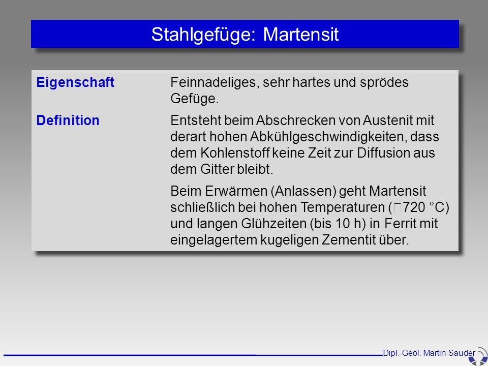 Stahlgefüge: Martensit