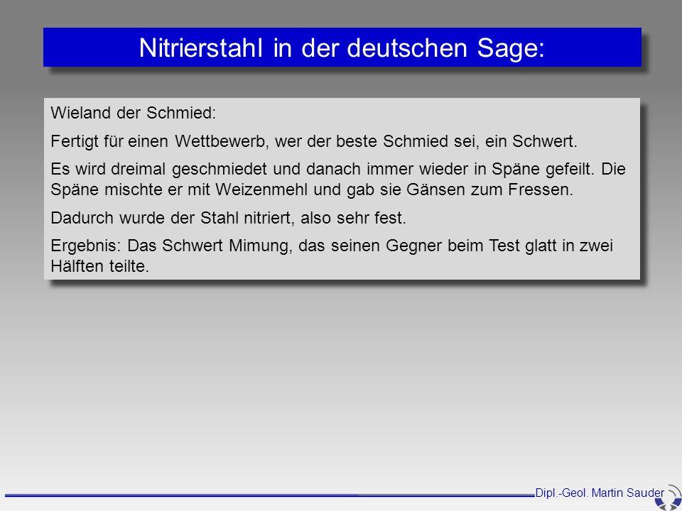 Nitrierstahl in der deutschen Sage: