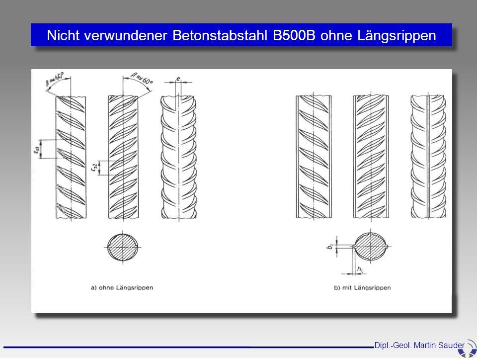 Nicht verwundener Betonstabstahl B500B ohne Längsrippen