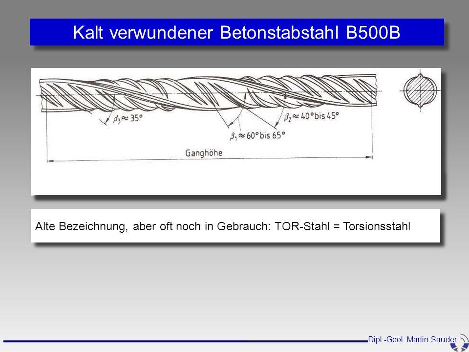 Kalt verwundener Betonstabstahl B500B
