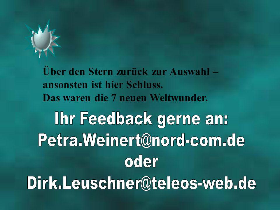 Ihr Feedback gerne an: Petra.Weinert@nord-com.de oder