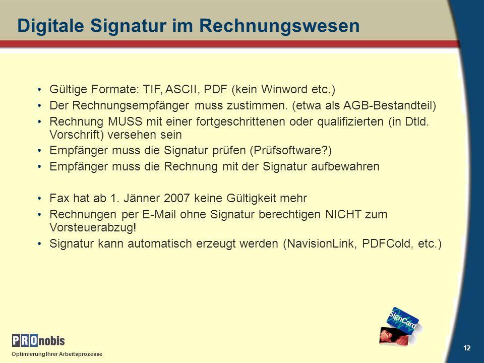 Digitale Signatur im Rechnungswesen