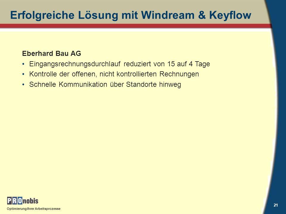 Erfolgreiche Lösung mit Windream & Keyflow