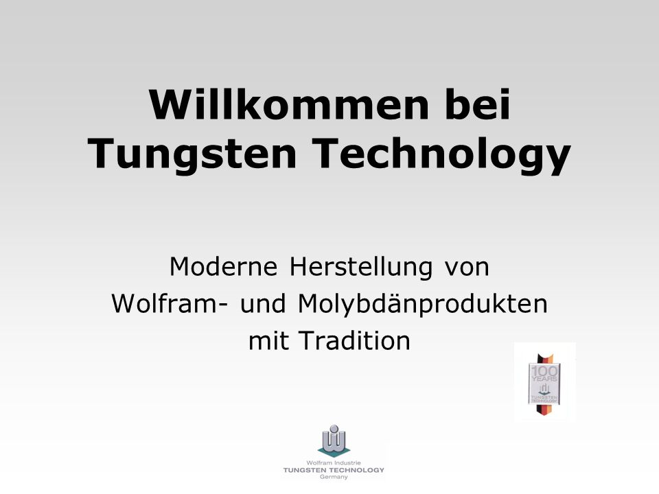 Willkommen bei Tungsten Technology
