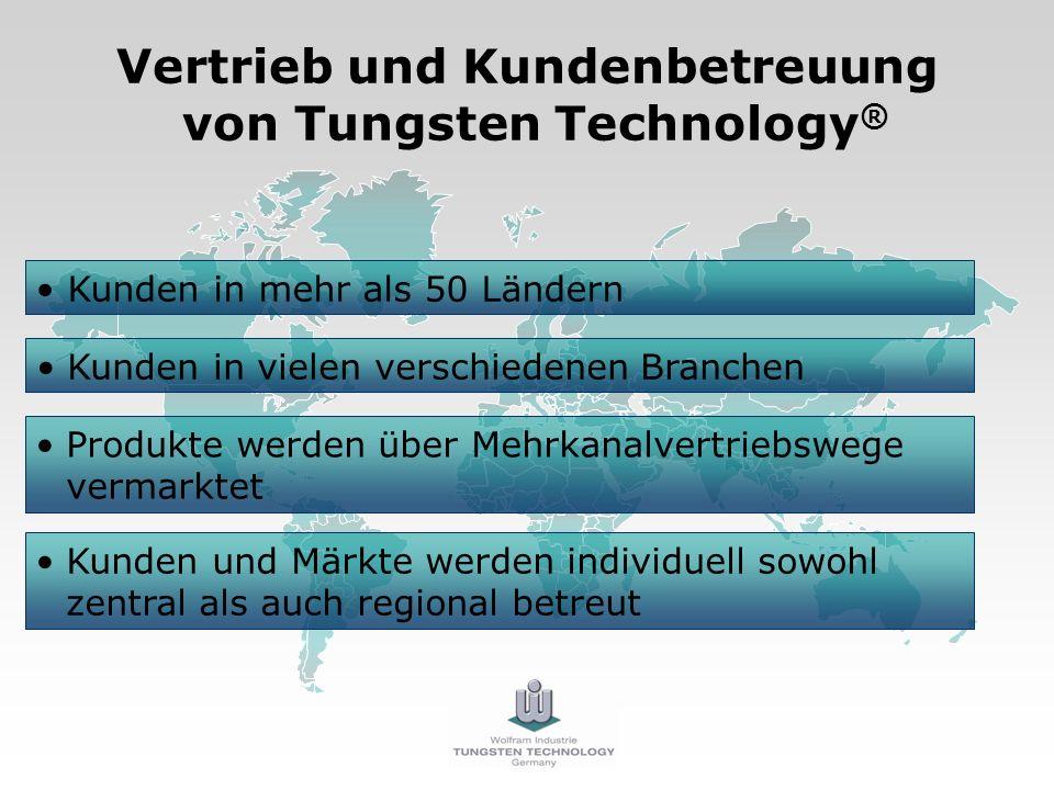 Vertrieb und Kundenbetreuung von Tungsten Technology®