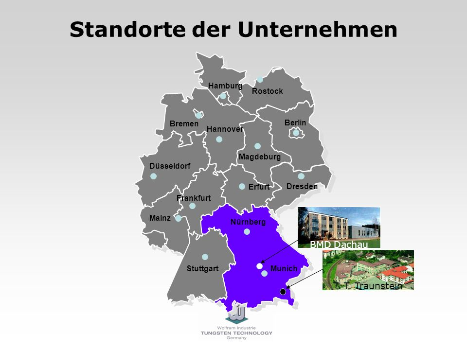 Standorte der Unternehmen