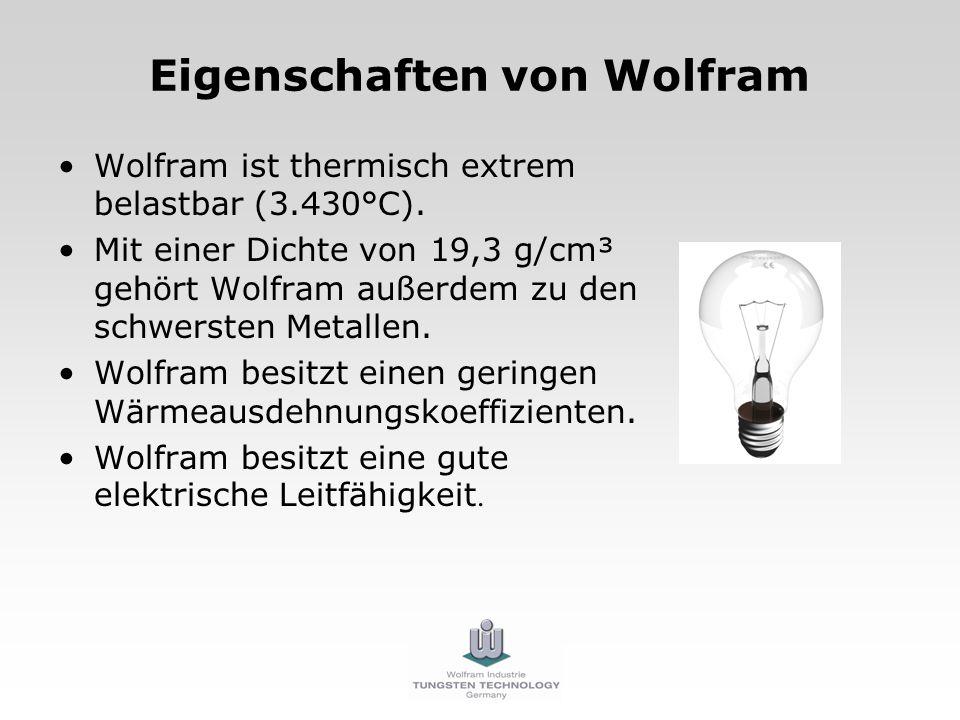 Eigenschaften von Wolfram