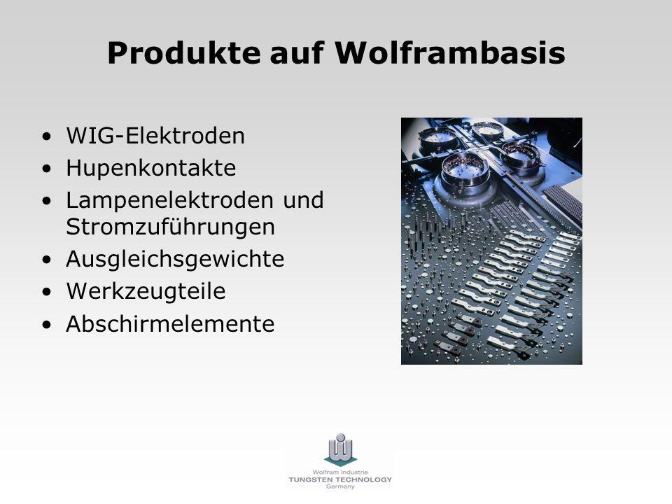 Produkte auf Wolframbasis