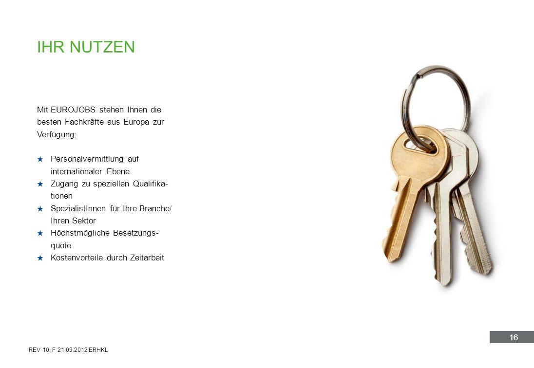 Ihr nutzenMit EUROJOBS stehen Ihnen die besten Fachkräfte aus Europa zur Verfügung: Personalvermittlung auf.