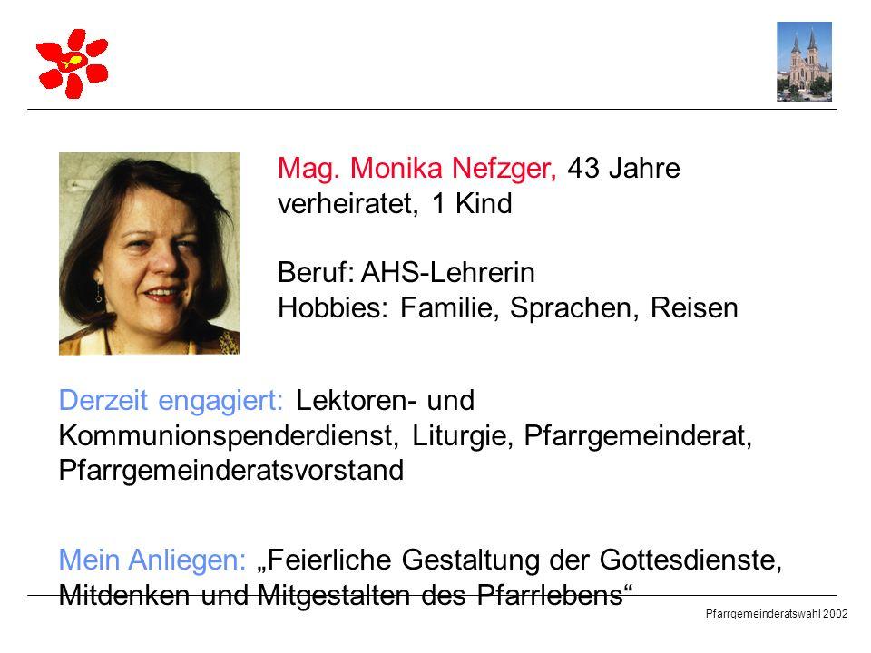 Mag. Monika Nefzger, 43 Jahre