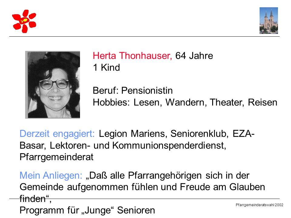 Herta Thonhauser, 64 Jahre