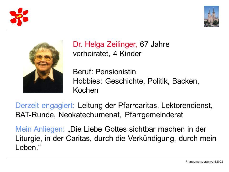Dr. Helga Zeilinger, 67 Jahre