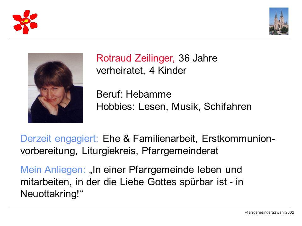 Rotraud Zeilinger, 36 Jahre