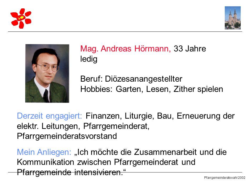 Mag. Andreas Hörmann, 33 Jahre