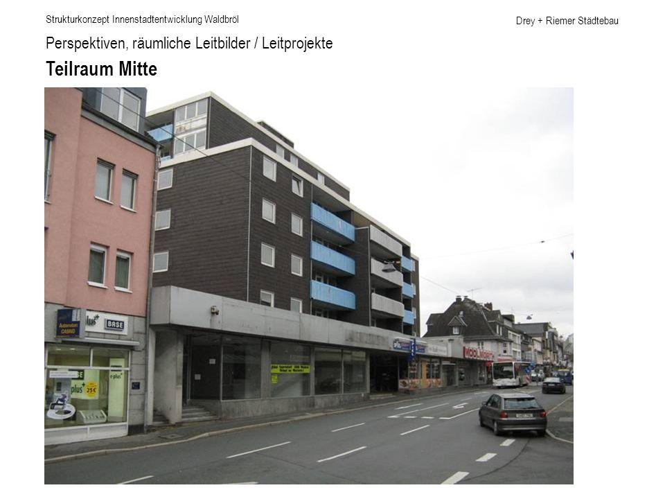 Teilraum Mitte Perspektiven, räumliche Leitbilder / Leitprojekte