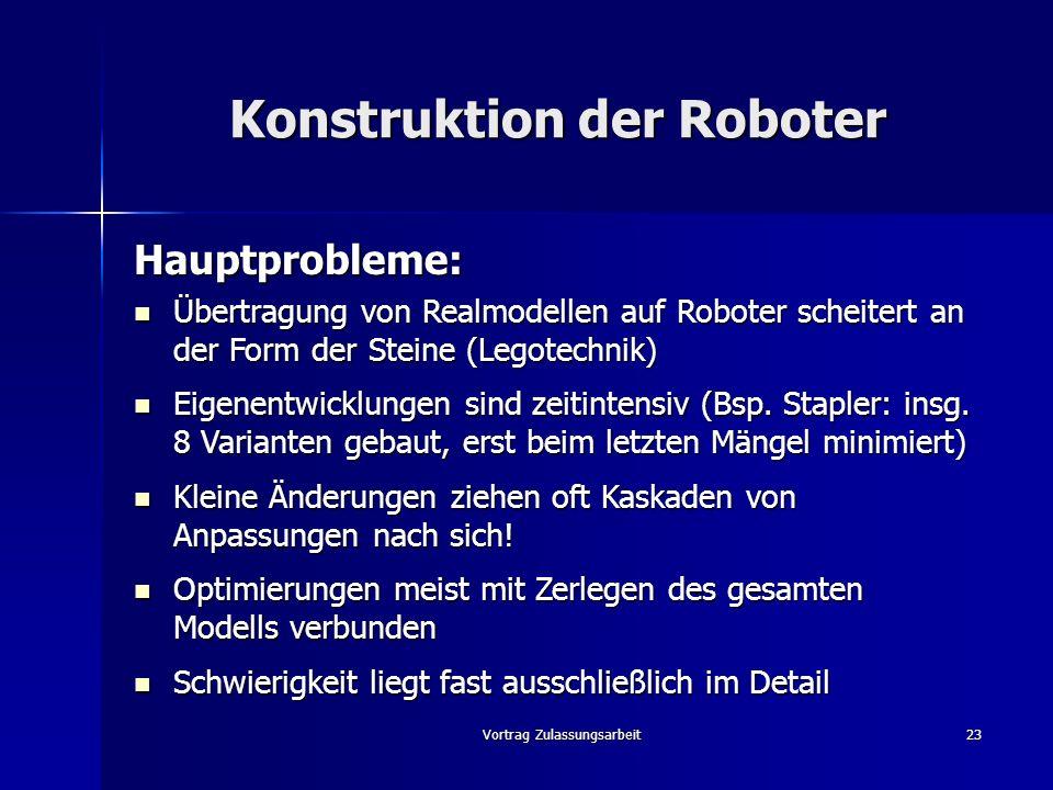 Konstruktion der Roboter
