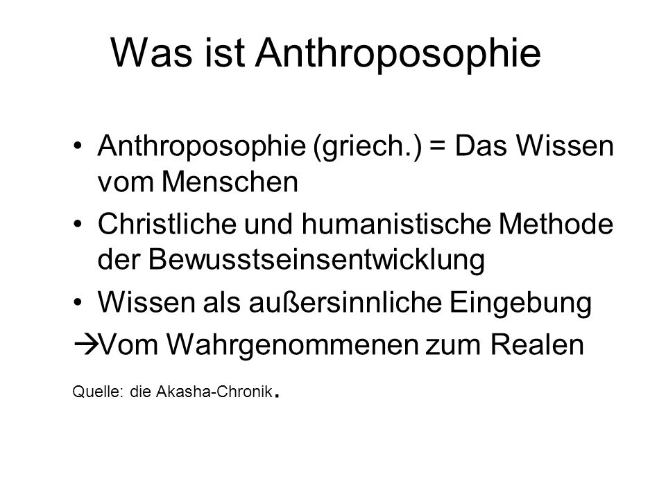 Was ist Anthroposophie