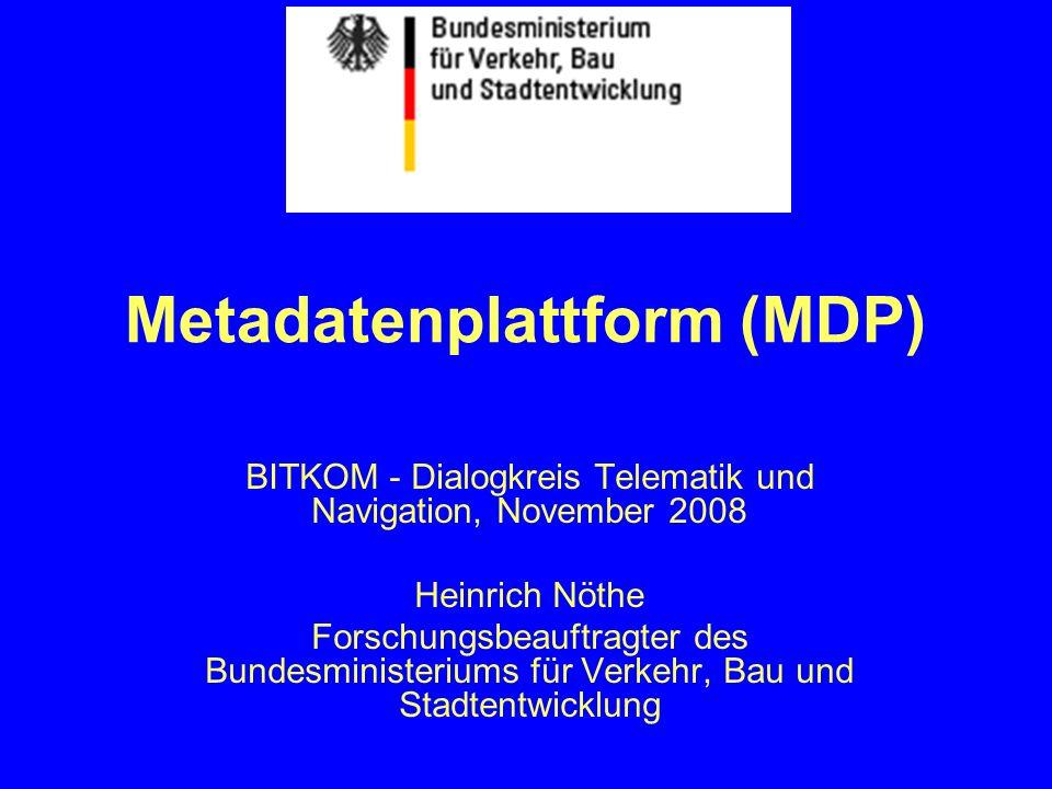 Metadatenplattform (MDP)