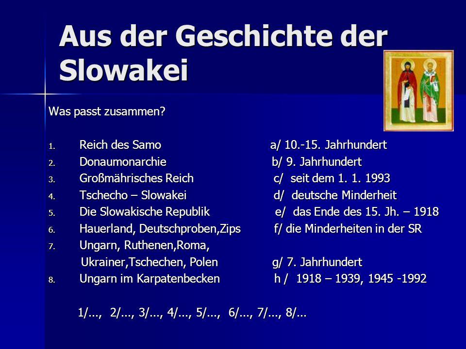 Aus der Geschichte der Slowakei
