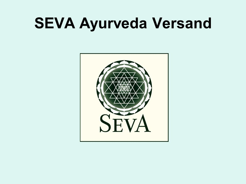SEVA Ayurveda Versand