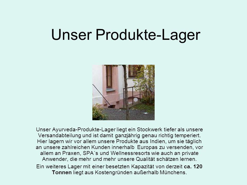 Unser Produkte-Lager
