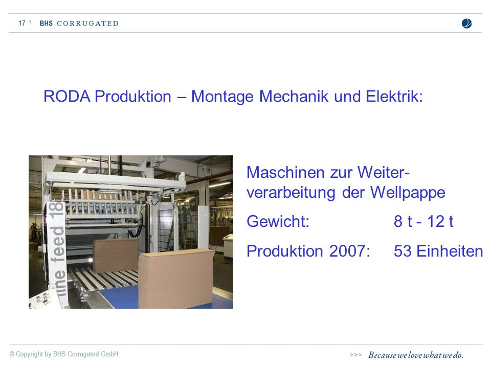 RODA Produktion – Montage Mechanik und Elektrik: