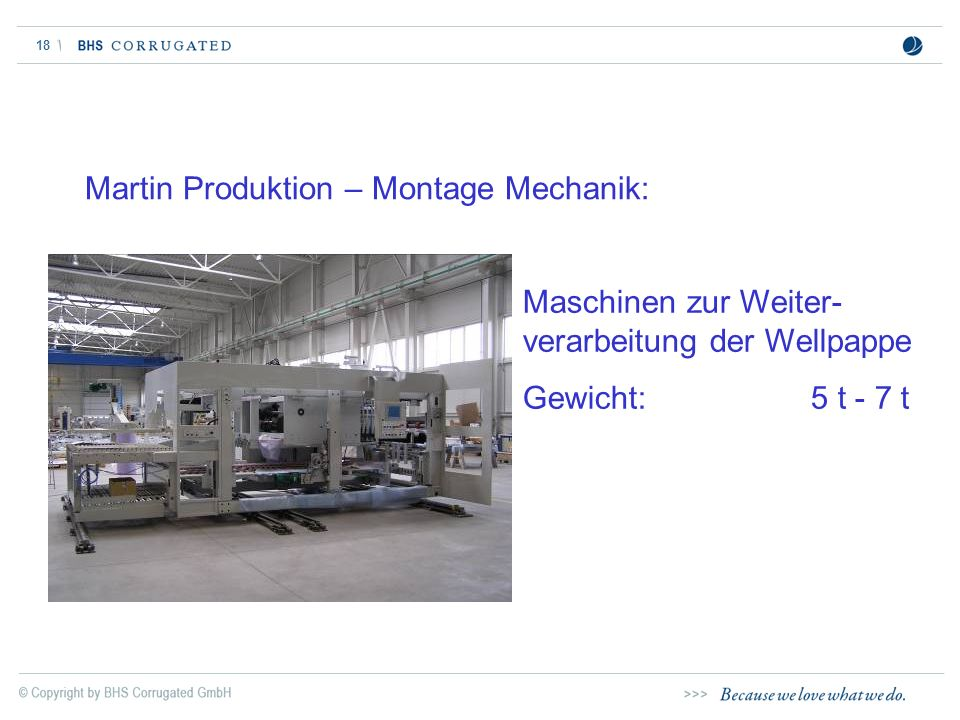 Martin Produktion – Montage Mechanik: