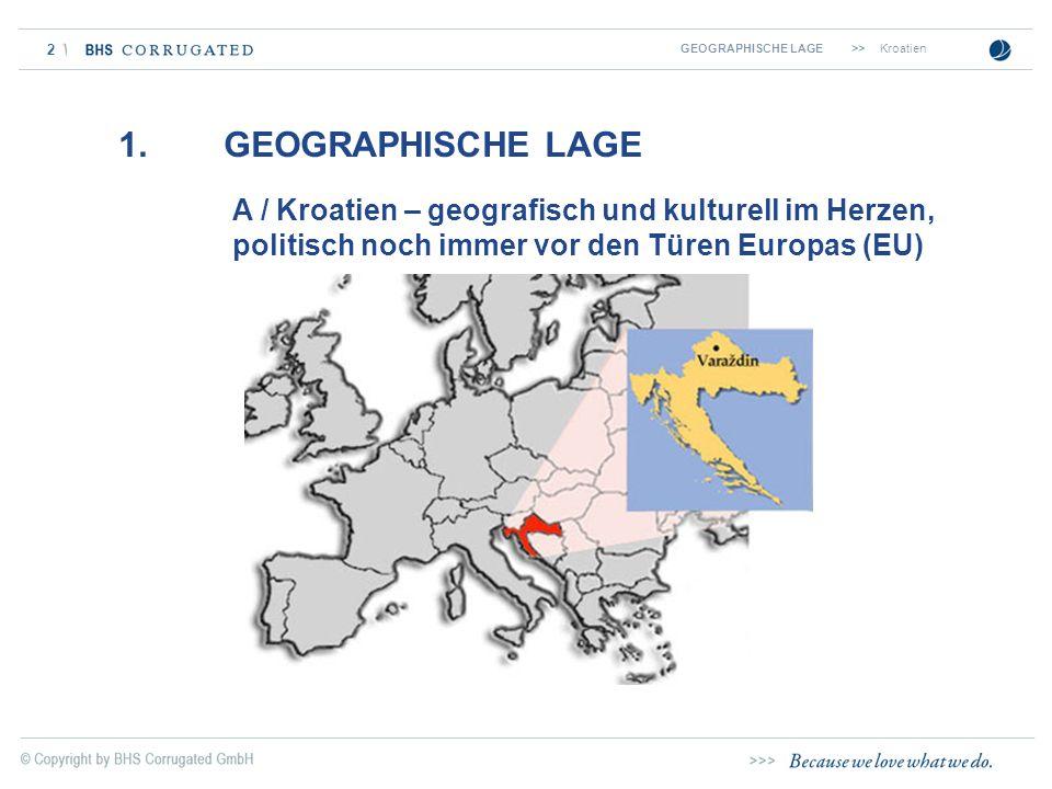 GEOGRAPHISCHE LAGE >> Kroatien