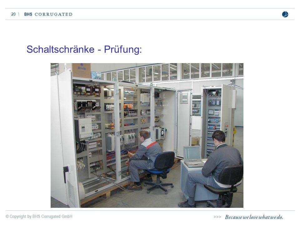 Schaltschränke - Prüfung: