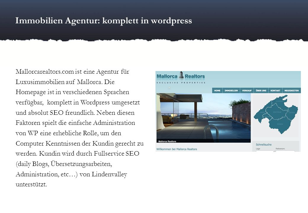 Immobilien Agentur: komplett in wordpress