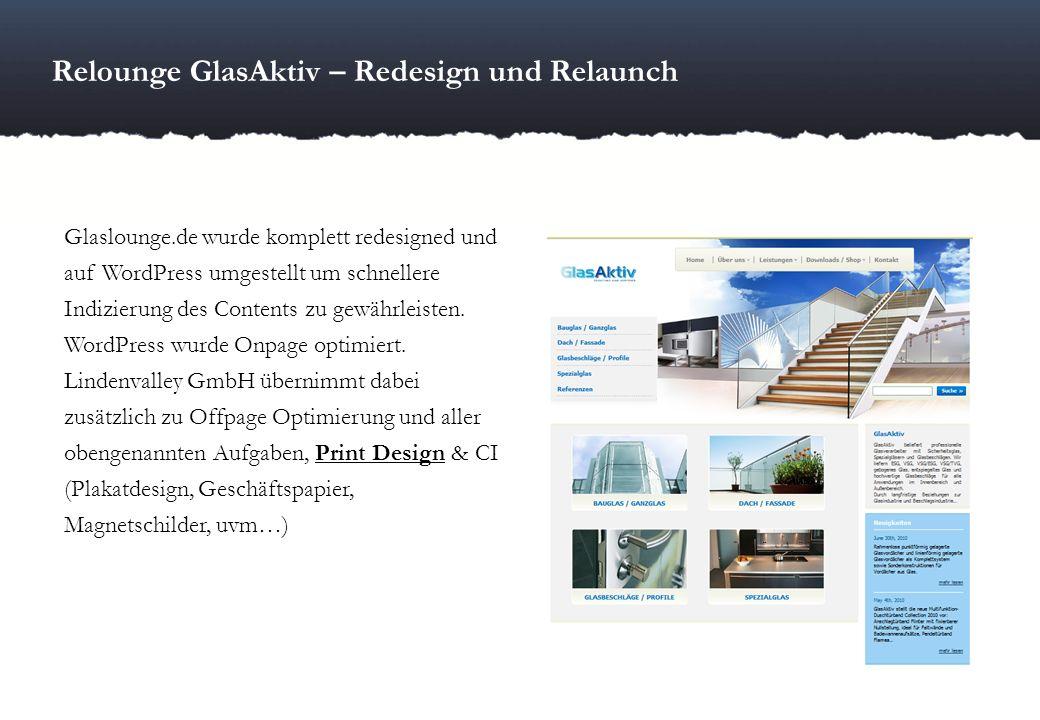 Relounge GlasAktiv – Redesign und Relaunch
