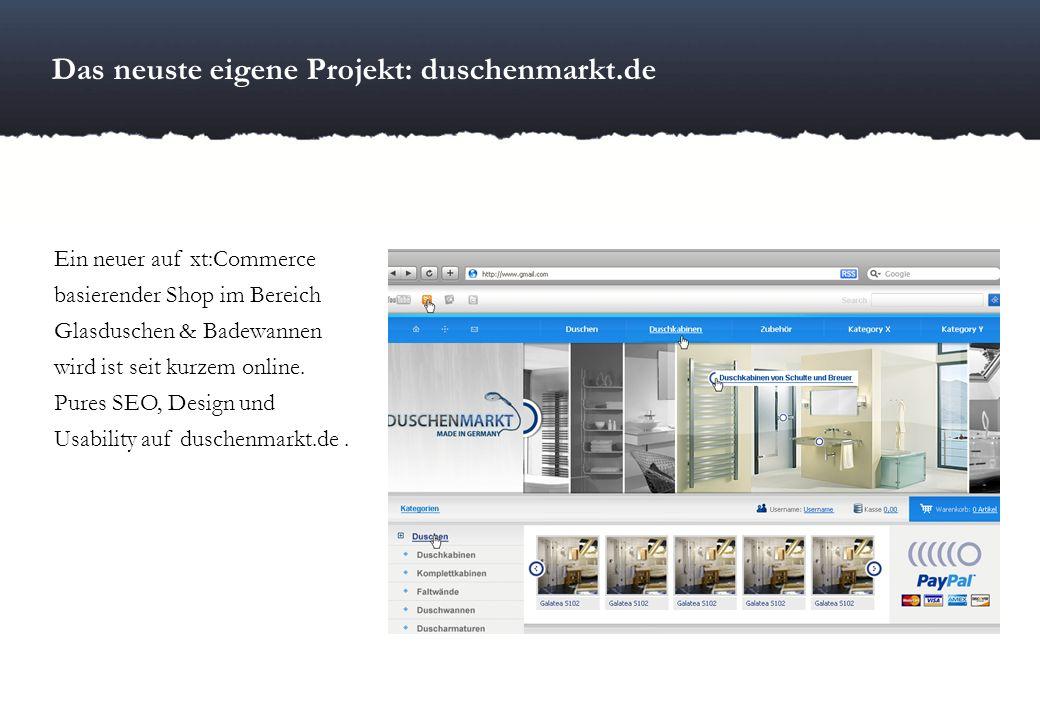 Das neuste eigene Projekt: duschenmarkt.de