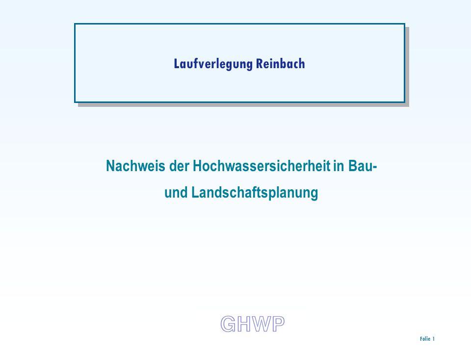 Laufverlegung Reinbach