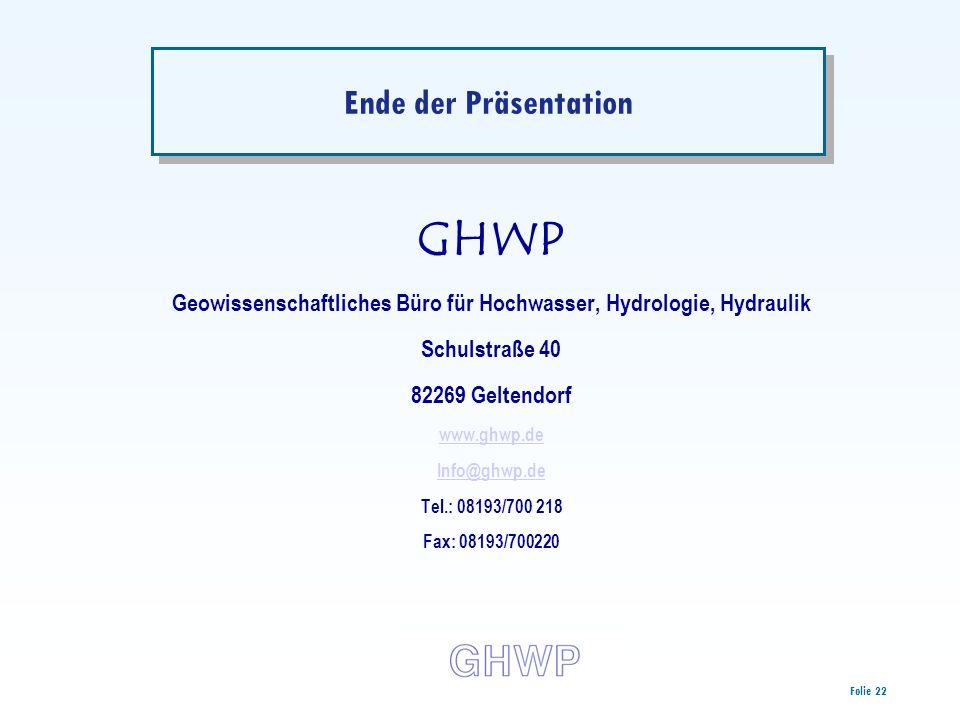 Geowissenschaftliches Büro für Hochwasser, Hydrologie, Hydraulik