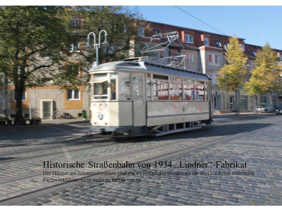 """Historische Straßenbahn von 1934 """"Lindner -Fabrikat"""