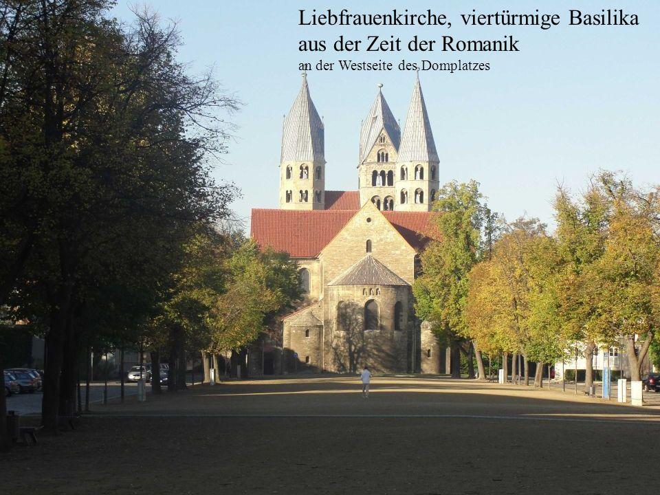 Liebfrauenkirche, viertürmige Basilika aus der Zeit der Romanik