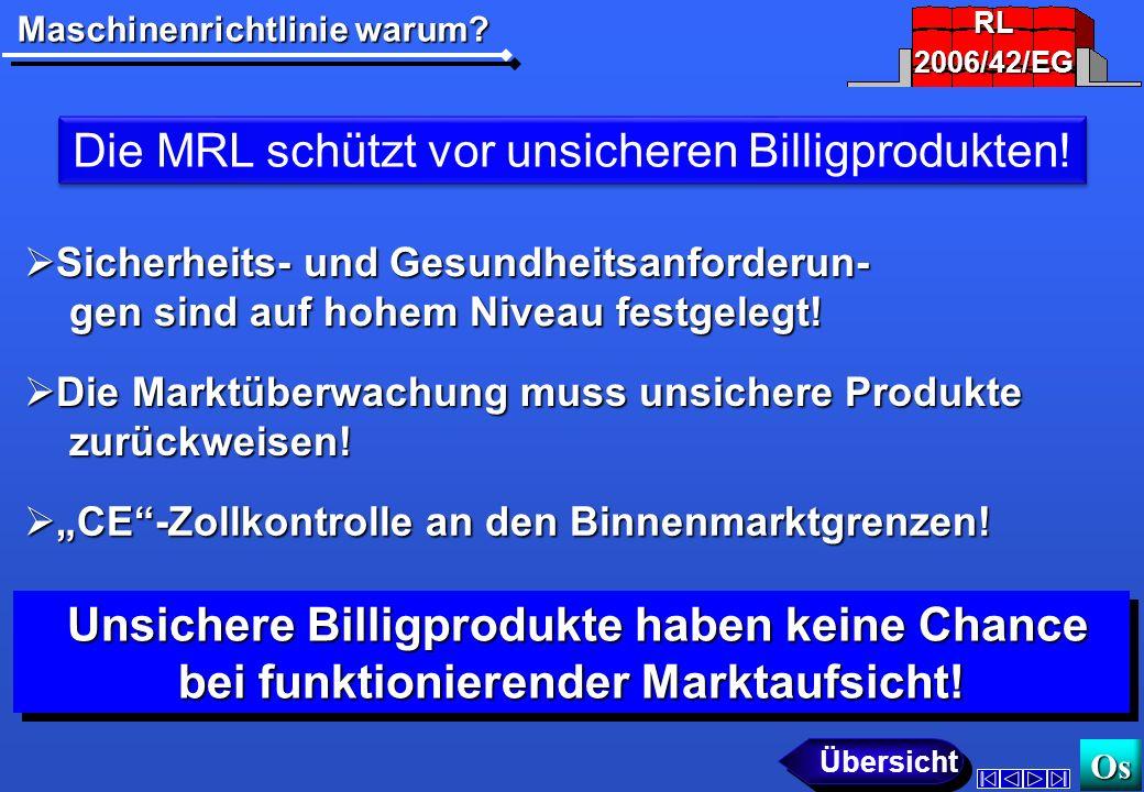 Die MRL schützt vor unsicheren Billigprodukten!