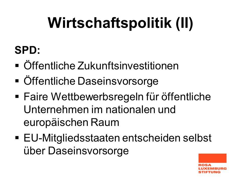 Wirtschaftspolitik (II)