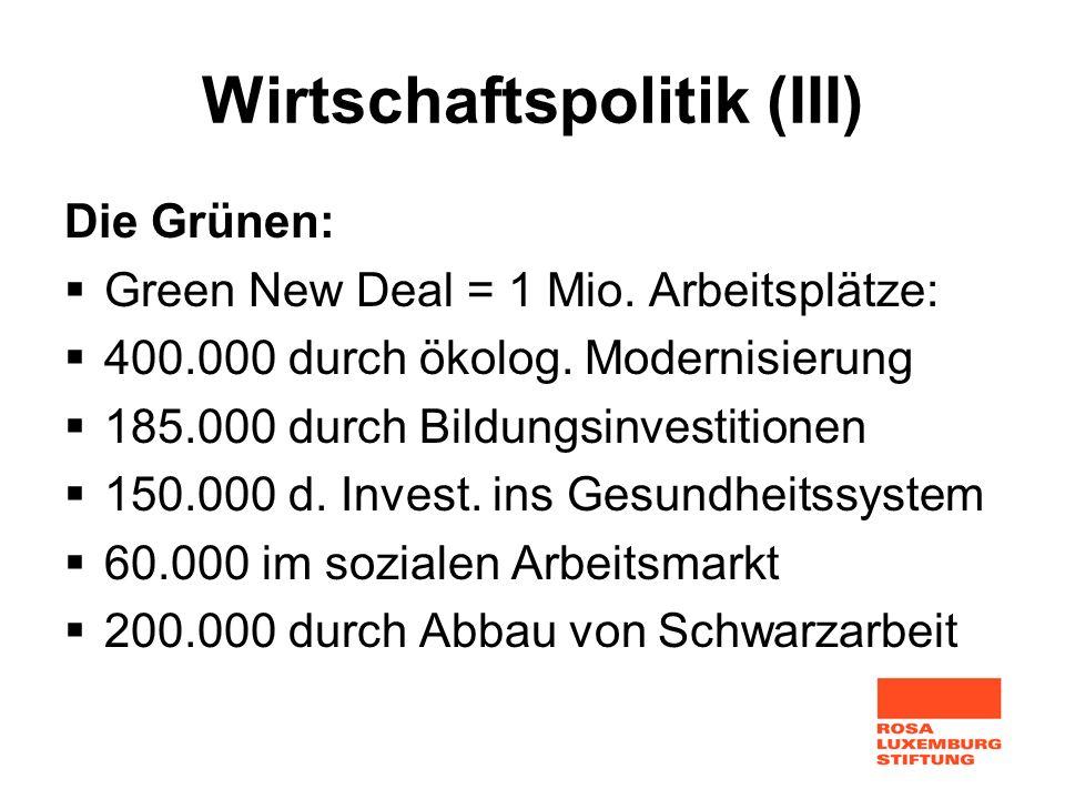 Wirtschaftspolitik (III)