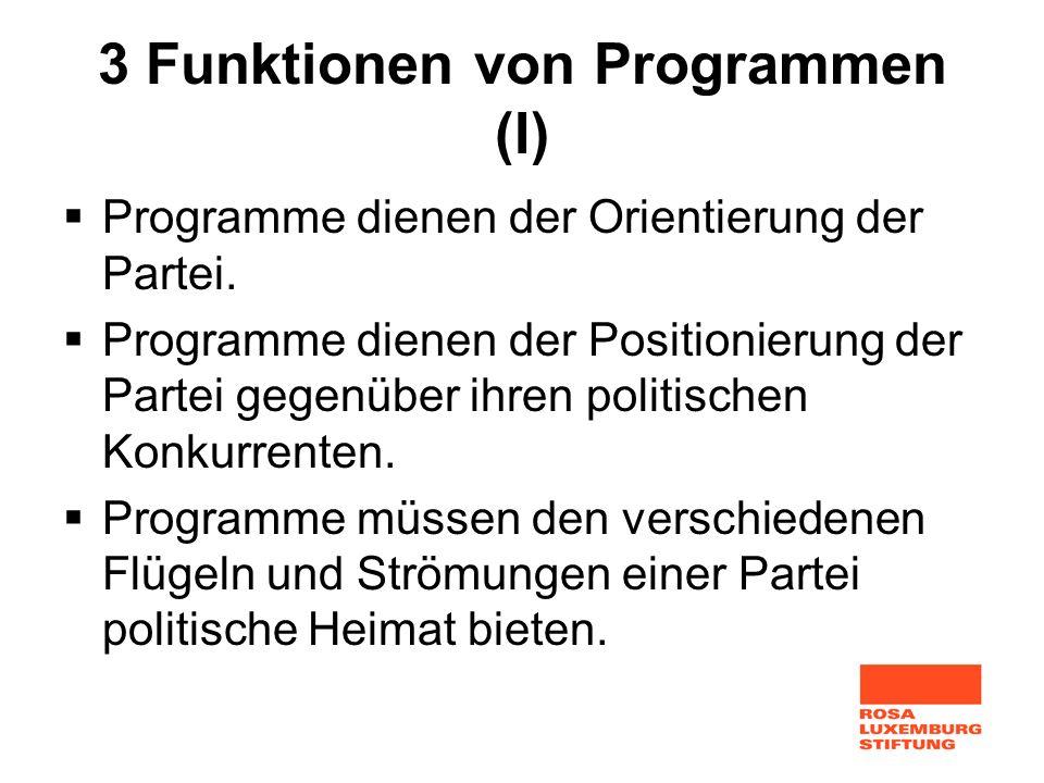 3 Funktionen von Programmen (I)