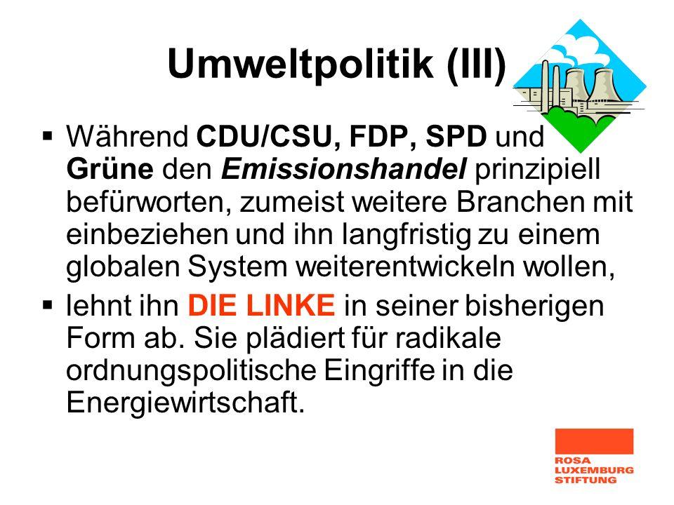 Umweltpolitik (III)