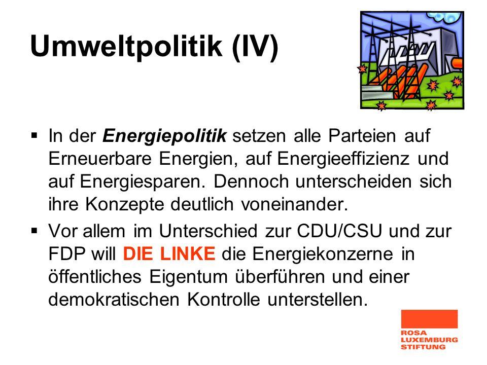 Umweltpolitik (IV)