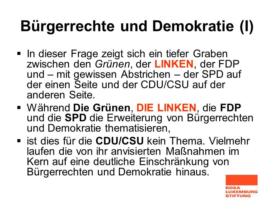 Bürgerrechte und Demokratie (I)