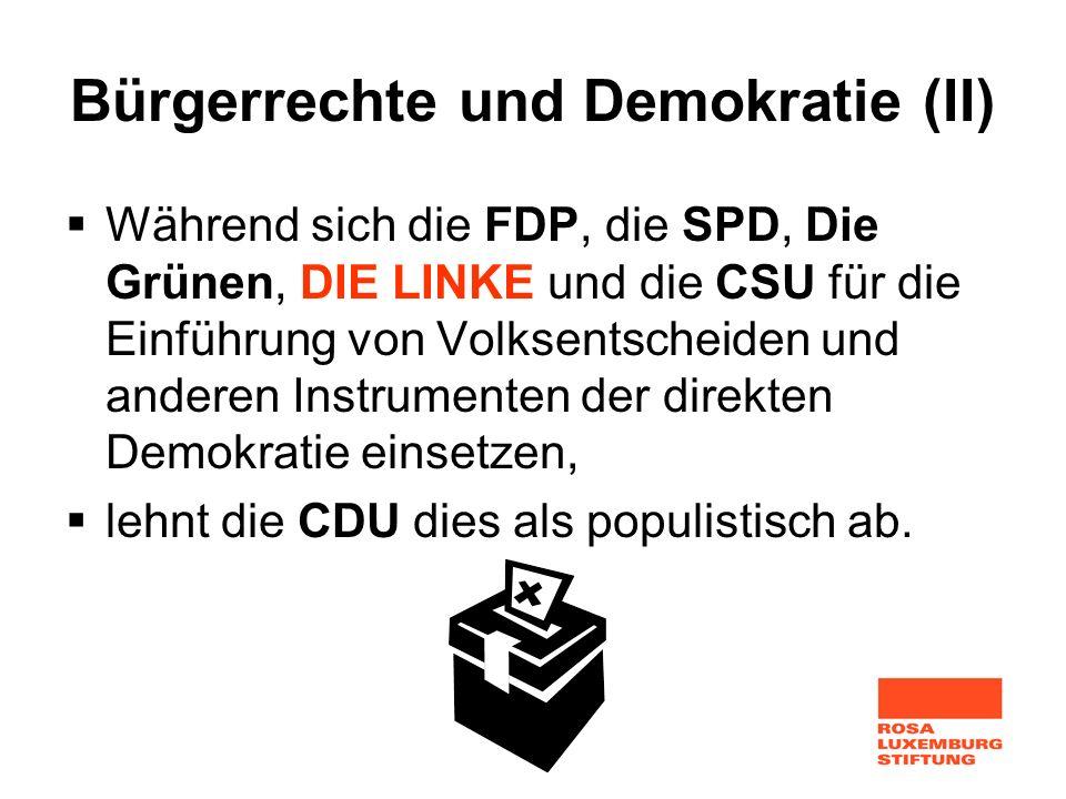 Bürgerrechte und Demokratie (II)