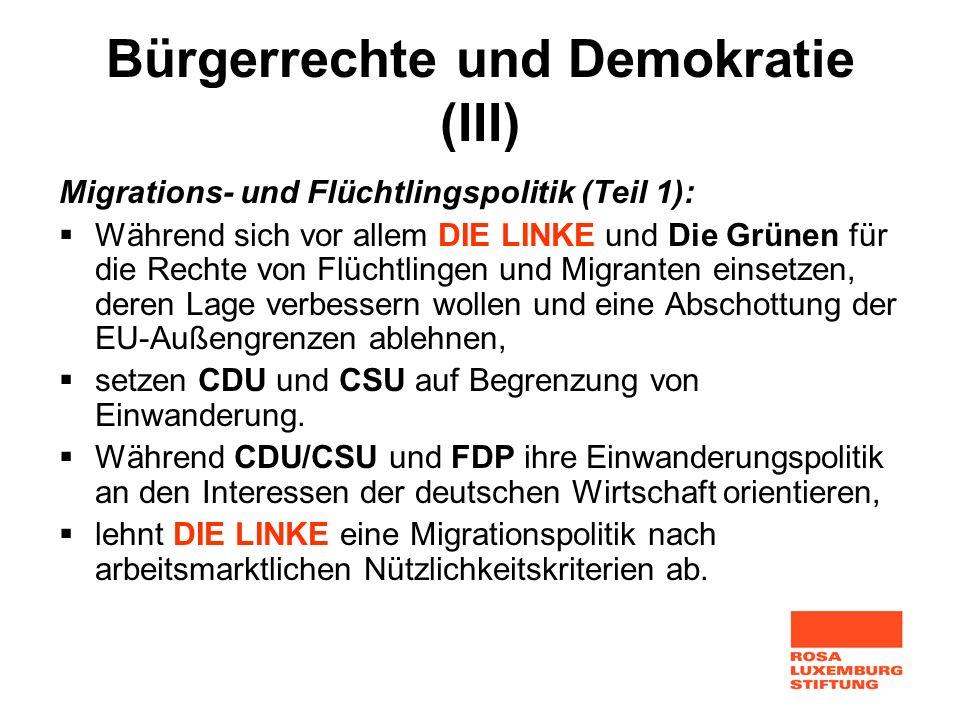 Bürgerrechte und Demokratie (III)