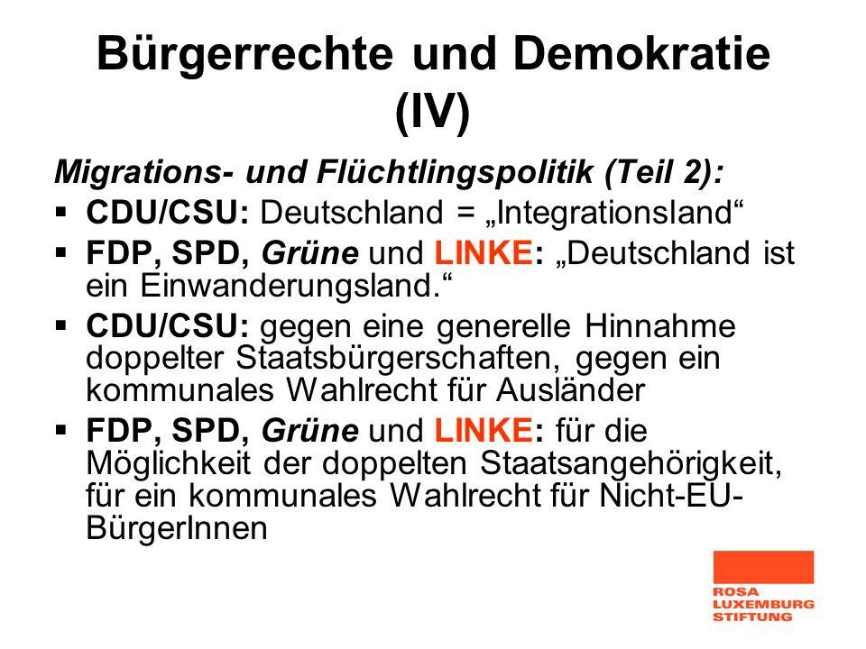 Bürgerrechte und Demokratie (IV)