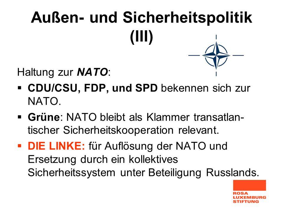Außen- und Sicherheitspolitik (III)