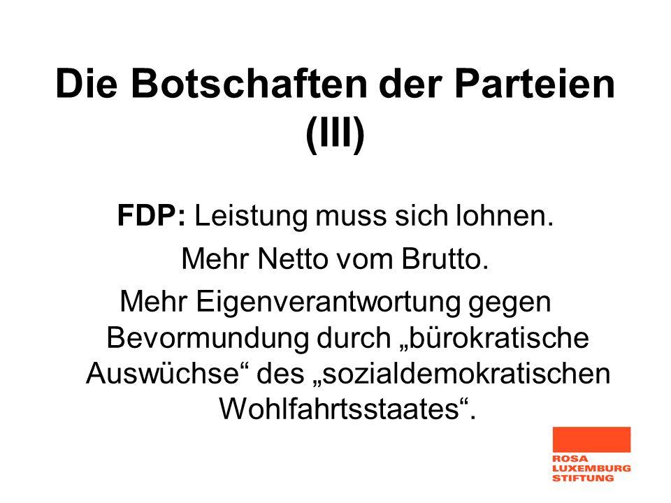 Die Botschaften der Parteien (III)