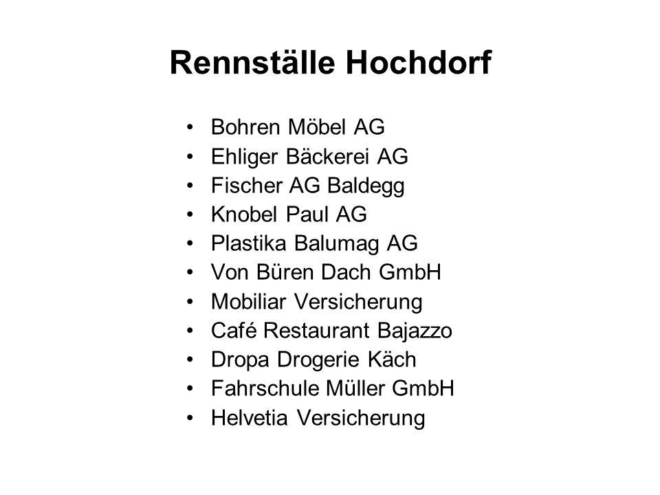 Rennställe Hochdorf Bohren Möbel AG Ehliger Bäckerei AG