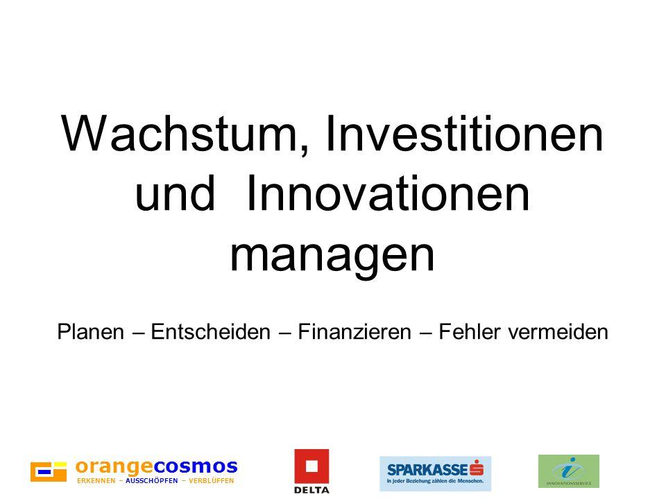 Wachstum, Investitionen und Innovationen managen Planen – Entscheiden – Finanzieren – Fehler vermeiden